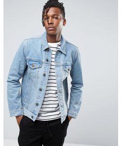 Asos | Синяя Выбеленная Джинсовая Куртка Узкого Кроя