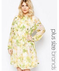 Yumi Plus   Платье С Цветочным Принтом И Бантиком