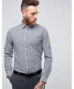 New Look | Темно-Синяя Клетчатая Рубашка Классического Кроя