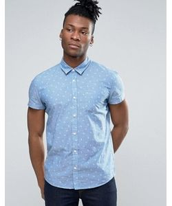 Pepe Jeans | Рубашка С Принтом И Короткими Рукавами