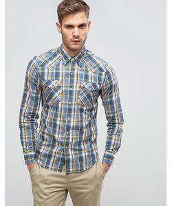 Levi's® | Синяя Рубашка В Стиле Вестерн