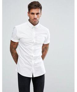 River Island   Облегающая Оксфордская Рубашка