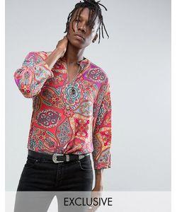 Reclaimed Vintage   Рубашка Классического Кроя В Стиле 70-Х С Принтом Пейсли