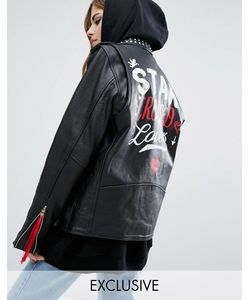 Reclaimed Vintage | Кожаная Байкерская Куртка X Romeo And Juliet