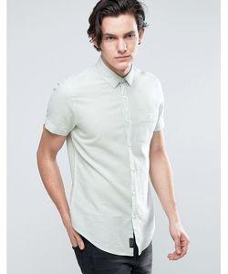 Threadbare | Рубашка Из Хлопка И Льна С Короткими Рукавами