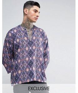 Reclaimed Vintage   Рубашка Классического Кроя В Стиле 70-Х Inspired