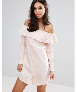 Fashion Union | Платье-Рубашка С Открытыми Плечами