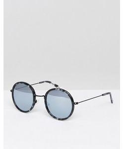 Pala | Круглые Солнцезащитные Очки С Серебристыми Блестящими Стеклами