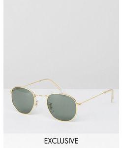 Reclaimed Vintage | Золотистые Круглые Солнцезащитные Очки