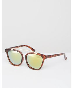 7X | Круглые Солнцезащитные Очки С Зеркальными Линзами