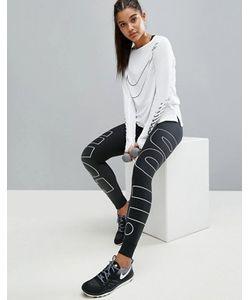 Nike | Леггинсы С Большим Фирменным Логотипом