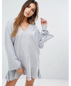MISSGUIDED | Трикотажное Платье С Оборками