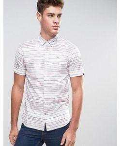 Hilfiger Denim | Tommy Short Sleeve Shirt Horizontal Stripe Print In