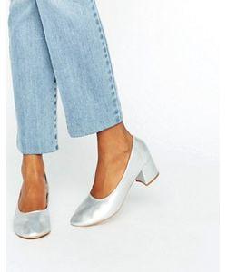 Daisy Street | Серебристые Туфли На Среднем Каблуке
