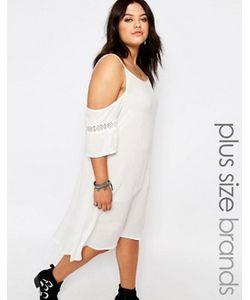 Missguided Plus | Платье Из Жатой Ткани С Открытыми Плечами