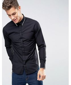 Selected Homme | Рубашка Слим С Длинными Рукавами