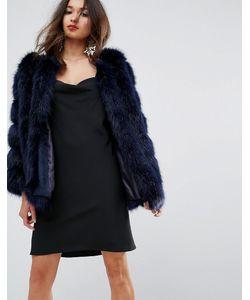 Jayley | Меховая Куртка С Полосатой Отделкой Luxurious