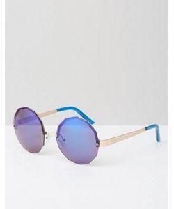 Jeepers Peepers | Шестиугольные Солнцезащитные Очки С Синими Зеркальными Стеклами