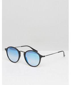 Ray-Ban   Круглые Солнцезащитные Очки С Синими Зеркальными Стеклами 0rb2447