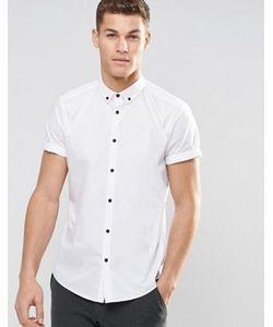 Asos | Рубашка Классического Кроя С Воротником На Пуговицах И Короткими Рукавами