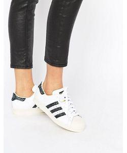 Adidas | Черно Кроссовки С Принтом Originals Superstar