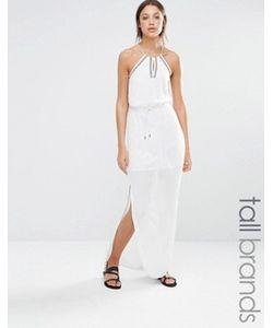 Vero Moda Tall | Платье Макси С Халтером И Вышивкой