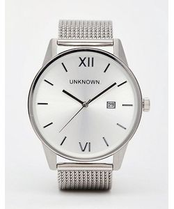 UNKNOWN | Серебристые Часы С Сетчатым Ремешком