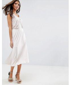 Asos | Платье Миди С Драпировкой Wedding