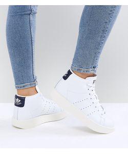 Adidas   Белые Кроссовки Средней Высоты Originals Stan Smith