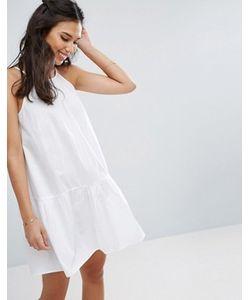 Asos | Хлопковое Платье С Заниженной Талией
