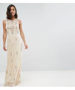 Maya Petite   Декорированное Кружевное Платье Макси