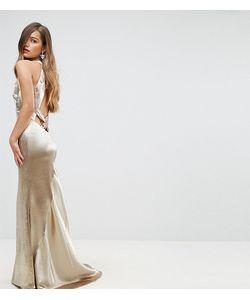 Jarlo Petite | Платье Макси С Американской Проймой Юбкой Годе И Открытой Спиной Jarlo