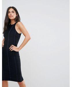 AX Paris | Темно Облегающее Платье С Отделкой