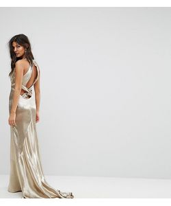 JARLO | Платье Макси С Американской Проймой Юбкой-Годе И Открытой Спиной