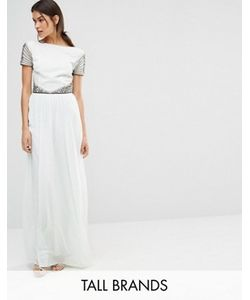 Maya Tall | Декорированное Платье Макси