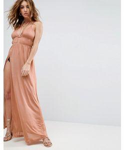 Asos | Пляжное Платье Макси С Халтером