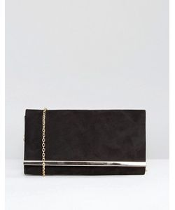 Carvela | Dylan Rectangle Envelope Clutch With Metal Bar In