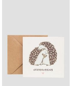 OHH DEER | Открытка Hedgehugging