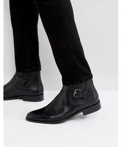 House of Hounds | Черные Кожаные Ботинки С Пряжками Adrian