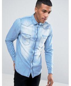 Blend | Голубая Узкая Джинсовая Рубашка