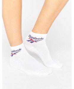Reebok | 3 Пары Белых Носков С Винтажным Логотипом Classics