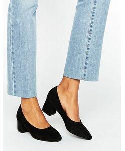 Daisy Street | Черные Туфли На Среднем Каблуке