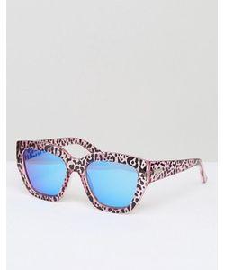 Le Specs   Солнцезащитные Очки С Гепардовым Принтом