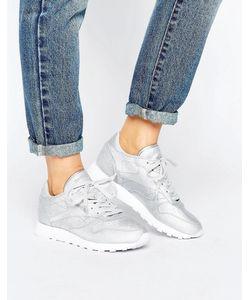 Reebok | Кожаные Классические Кроссовки С Блестящей Отделкой