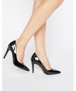 Head Over Heels | Черные Туфлилодочки На Каблуке By Dune Addyson