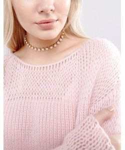 New Look | Ожерелье-Чокер С Искусственными Жемчугом