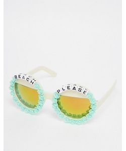 RAD + REFINED | Круглые Солнцезащитные Очки С Зеркальными Линзами Beach Please