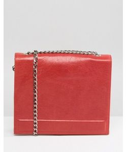 URBANCODE | Real Leather Chain Strap Box Bag In
