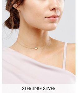 Asos | Ожерелье Из Позолоченного Серебра С Подвеской В Виде Овна
