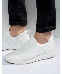 Asos | Белые Кроссовки С Эластичными Ремешками